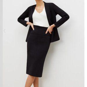 MM Lafleur Harlem Stretch Knit Skirt BLACK M